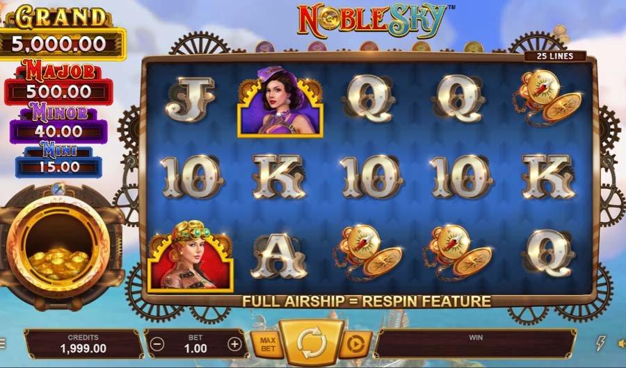 casino วิธีเล่นสล็อต กับเกม Noble Sky